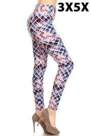 SQ/40 {Colorful Artist} Lavender Abstract Print (SOFT) Leggings