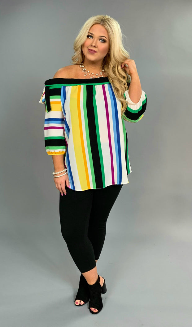 OS-D {Fancy Seeing You} Vertical Striped Top Shoulder Ties  SALE!!