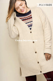 "OT-S {Anything For You} ""UMGEE Brand"" Cream Sweater Cardigan SALE!!"