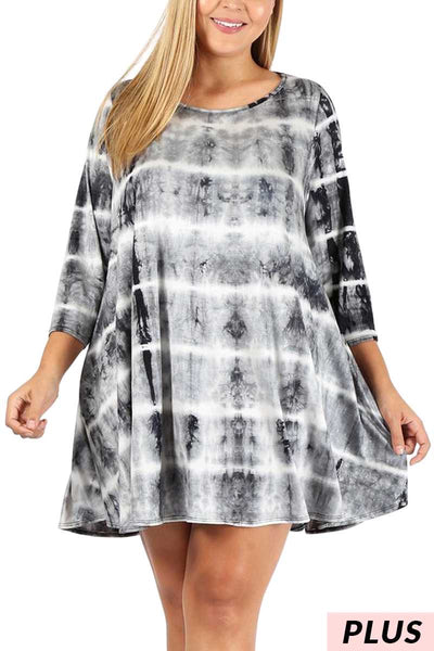 PQ-B {Always An Adventure} Tie-Dye Dress with Pockets