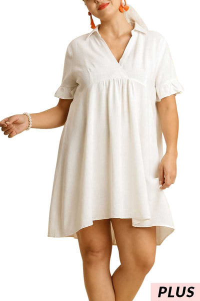 "63 SSS-C {This Is The Time} ""UMGEE"" White Dress PLUS SIZE XL 1XL 2XL"