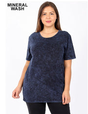 PSS-J {Exotic Wonders} Sapphire Mineral Wash Cotton/Spandex Top  SALE!!