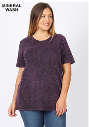 PSS-Y {Exotic Wonders} Blackberry Mineral Cotton/Spandex Top  SALE!!