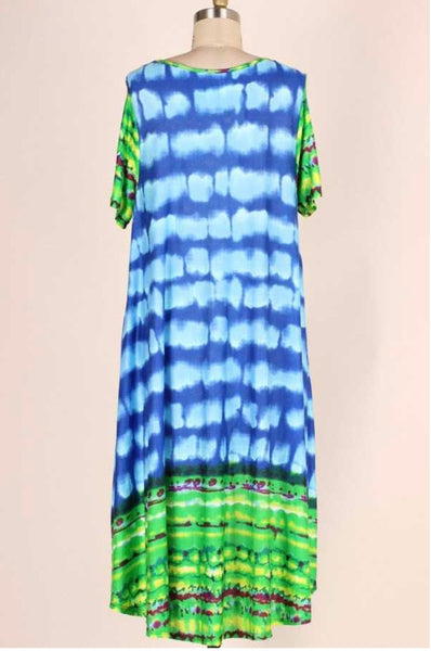 LD-S {Anything Could Happen} Multi Print Dress w/Pockets