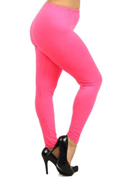 PLS/W {Easy Way Out} Fuchsia Leggings Buttery Soft Feel!