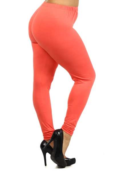 GT/P {Easy Way Out} Coral Leggings Buttery Soft Feel!