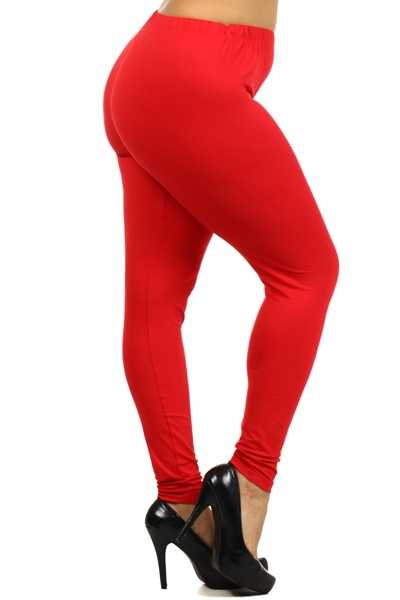 BT/A {Easy Way Out} Red Leggings Buttery Soft Feel! PLUS SIZE