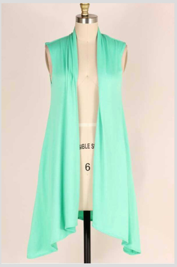 OT-E (Easy Compliment) Mint Asymmetrical Vest EXTENDED PLUS