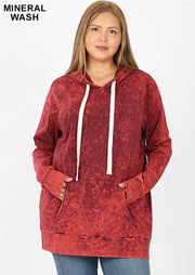 HD-P {Bonfire Nights} Cabernet Mineral Wash Hoodie SALE!