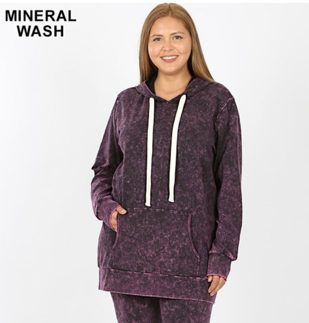 HD-Z {Bonfire Nights} Blackberry Mineral Wash Hoodie SALE!!