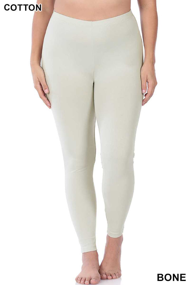 63 LEG-S {Ridiculously Comfortable} OFF-WHITE Leggings PLUS SIZE 1X 2X 3X