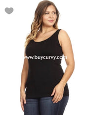 TK-C {A Must Have} BLACK Nylon/Spandex Tank Top/Body Shaper