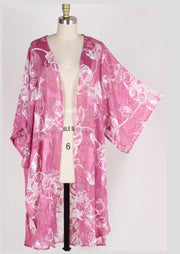 OT-G {Changing Direction} Plum Floral Print Sheer Cardigan