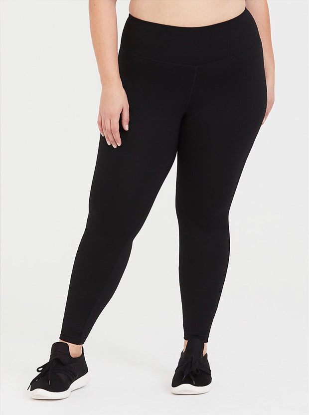 HD-T {First Choice} Black Premium 95% Cotton 5% Spandex Leggings