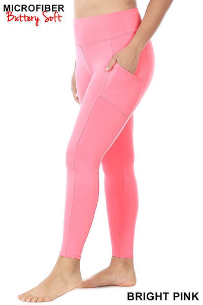 Leg-18 {Soft Delight} Pink Active Leggings PLUS SIZE 1X 2X 3X
