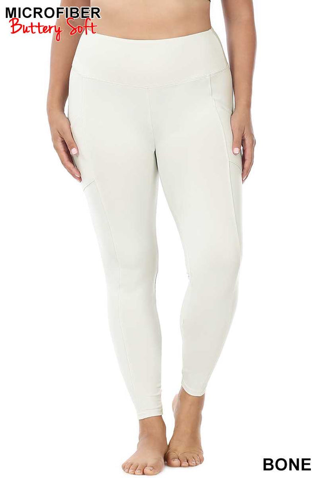 Leg-16/13  {Soft Delight} Bone Active Leggings PLUS SIZE 1X 2X 3X
