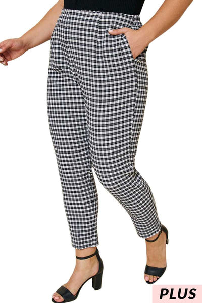 BT-A {As You Wish} Black/White Checked Pants with Pockets