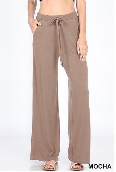 BT-A {Enjoy Today} Mocha Lounge Pants W/ Drawstring