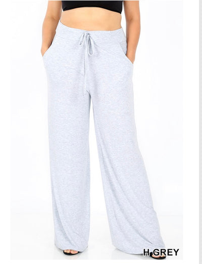 BT-F {Live Simply} Gray Lounge Pants W/ Drawstring (Long)