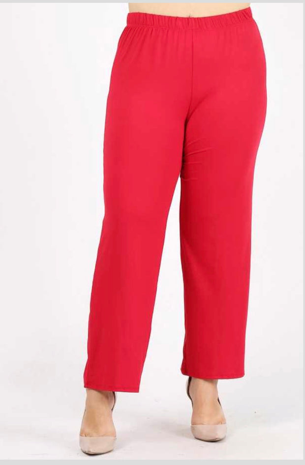 GT/O {No Agenda} Red Pants Poly-Spandex Soft Feel