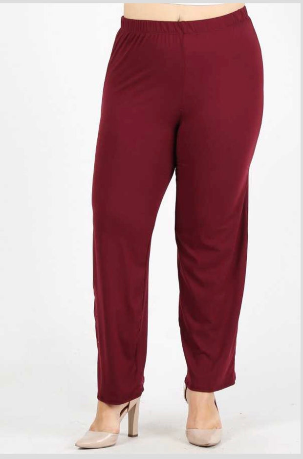 GT/P {No Agenda} Burgundy Pants Poly-Spandex Soft Feel