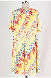 PSS-N {Classic Elegance} Yellow Floral Print Dress FLASH SALE!!