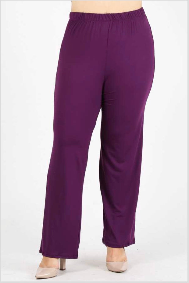 GT/O {No Agenda} Plum Pants Poly-Spandex Soft Feel