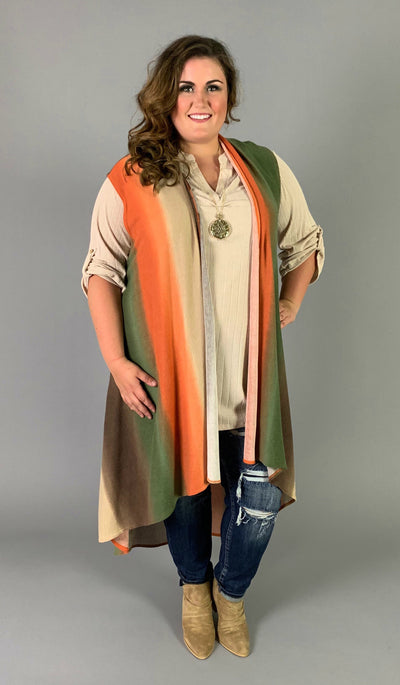 OT-S {Make The Call} Rust/Olive/Brown Vest with Pockets