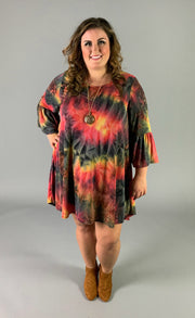 PQ-G {Must Be Dreaming} Multi-Color Dress Bell Sleeves Extended Plus