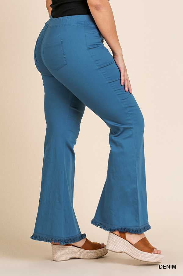BT-E (You Go Girl) Blue Flare Leg Jeggings PLUS SIZE XL 1X 2X