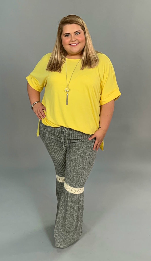SSS-F {Carefree Attitude} Yellow Top with Cuffed Sleeve