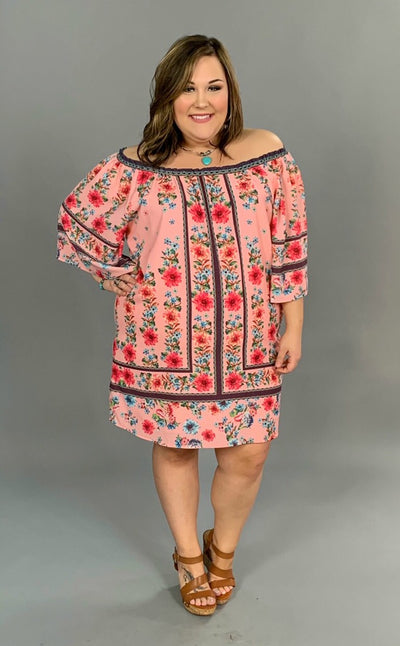 "OS-H {Big Flirt} ""UMGEE"" Pink Floral Dress with Lining SALE!"