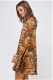 PLS-C {The Wild Side} Soft Animal Print Dress with Pockets  SALE!!
