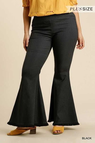 "64 BT-C {Concert Cutie} ""UMGEE"" Black Bell Bottom Pants"