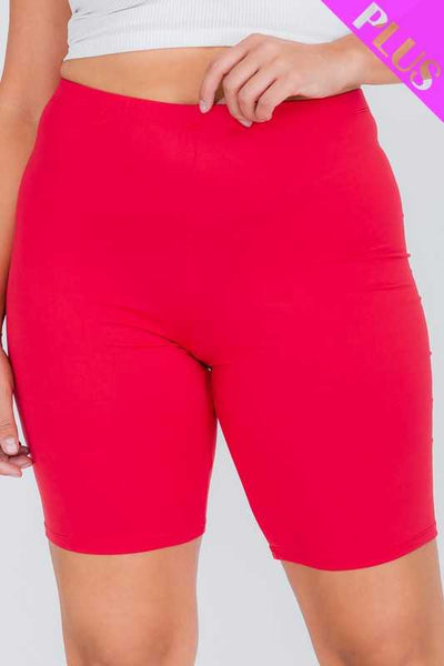 63 BT-N {Promise Of Sunshine} RED Biker Shorts PLUS SIZE 1X 2X 3X