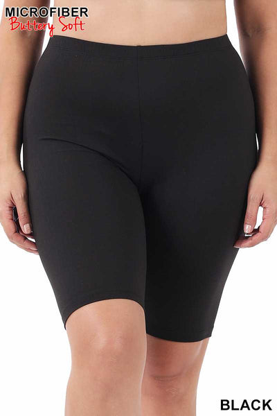 63 BT-B {Chase Me Down} BLACK Bicycle Shorts PLUS SIZE XL 2X 3X