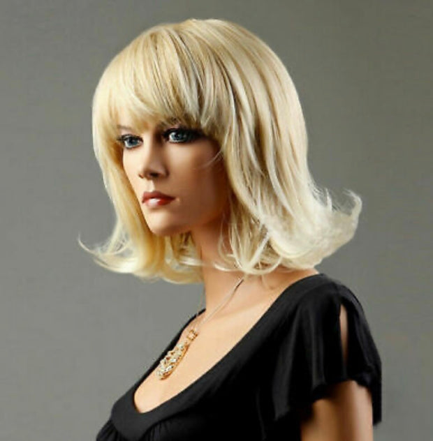 {Linda} Bright Blonde Short Wig With Bangs
