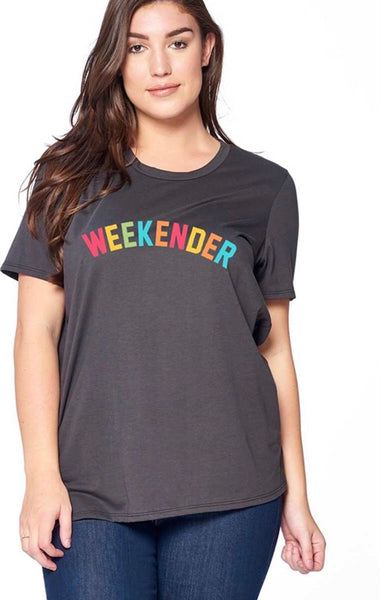 GT-K {The Weekender} Black T-Shirt with Multi-Color Letters