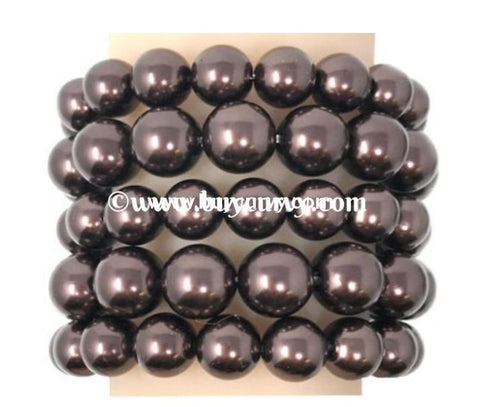 Bce-Chocolate Multi Set Pearl Bracelet