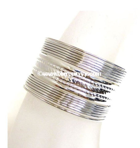Bce- Fabulous Silver Multi Bracelet Bangle