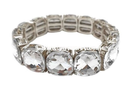 Bce Silver Bracelet With Diamond Stones