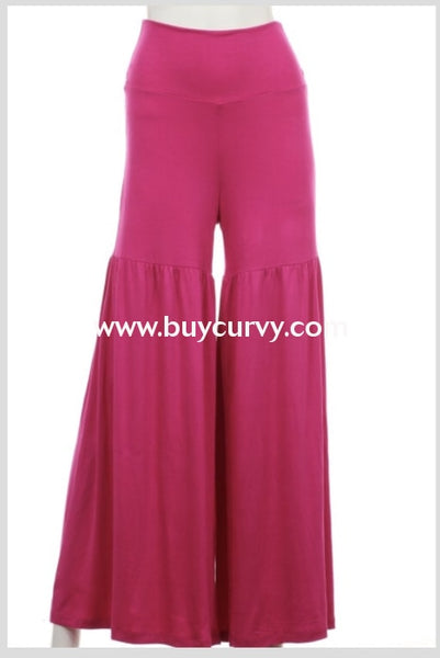 Bt-A Bottoms Up Fuchsia Wide Leg Palazzo Pants Sale!