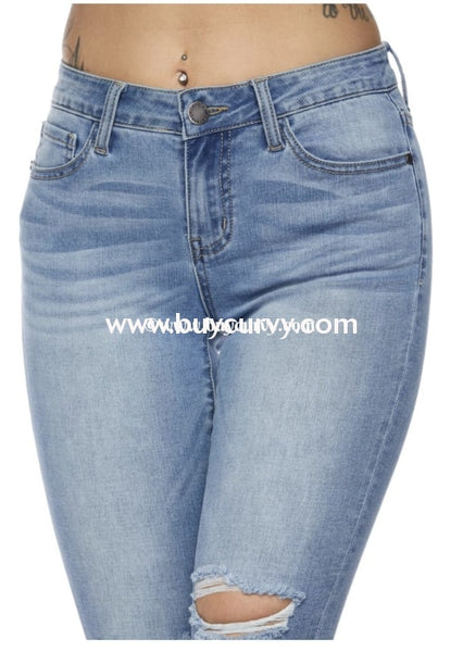Bt-B {Trust Me When I Say This} Light Denim Keyhole Jeans Bottoms