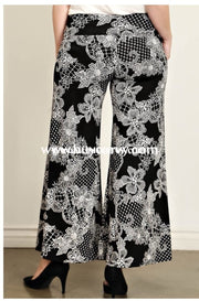 Bt-E Moa Black & White Floral Print Palazzo Pants Sale! Bottoms