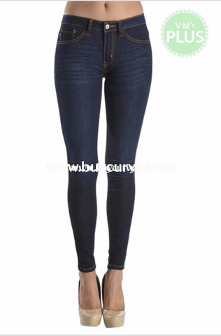 Bt-F {Best In Show} Dark Denim Straight-Leg Jeans Bottoms