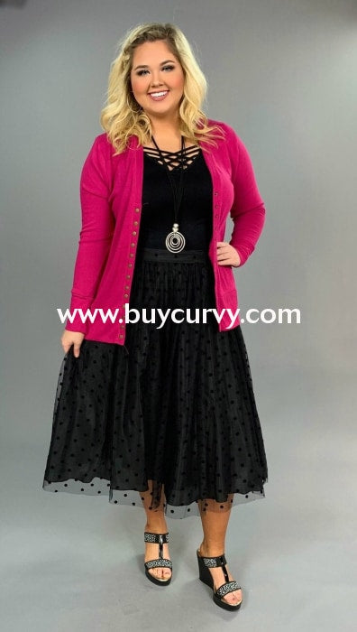 Bt-G Black Polka Dot Skirt With Sheer Overlay & Waistband Sale! Bottoms