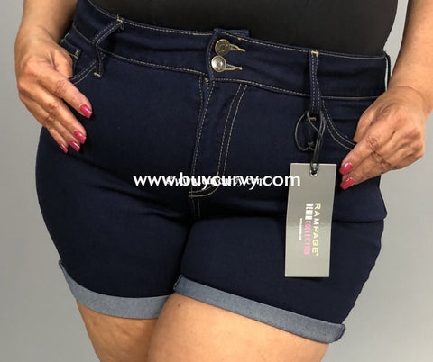 Bt-G Rampage Dark Denim Shorts With Cuff (Soft) Sale! Bottoms