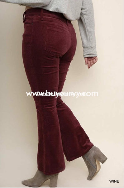Bt-G {The Choice Is Yours} Burg. Corduroy Bell-Bottom Pants Sale! Bottoms