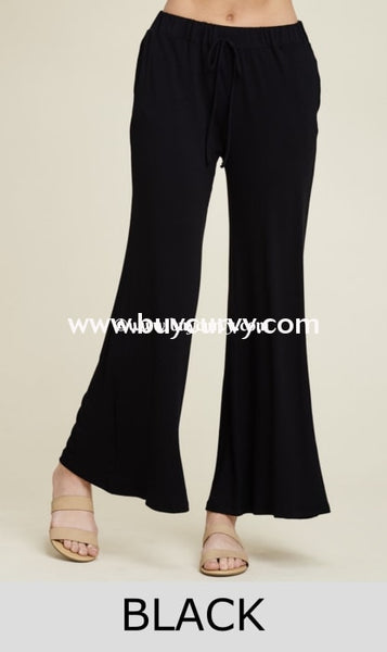 Bt-H Keep A Lookout Black Wide Leg Palazzo Pants Sale! Bottoms