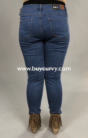 Bt-I {Find Balance} Light Denim Skinny Jean Jeggings Sale! Bottoms